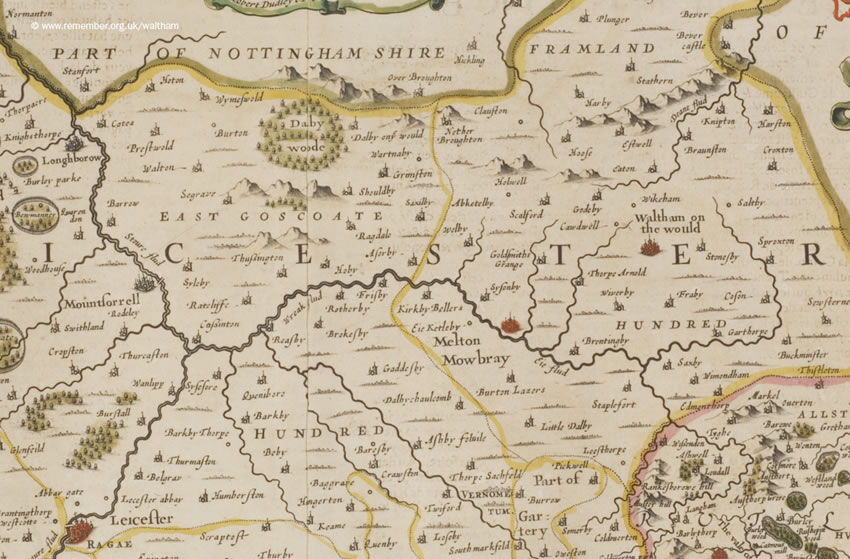 Waltham in the 1650. Click side arrows to view the next map in the sequence.