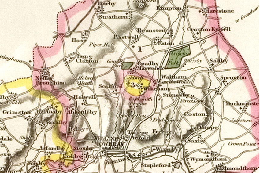 Waltham in 1830. Click side arrows to view the next map in the sequence.