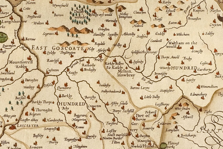 Waltham in 1610. Click side arrows to view the next map in the sequence.