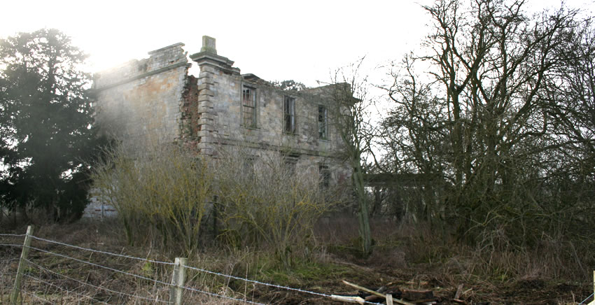 The sad ruins of Croxton Park House.