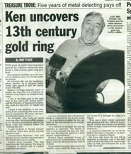 Ken strikes gold