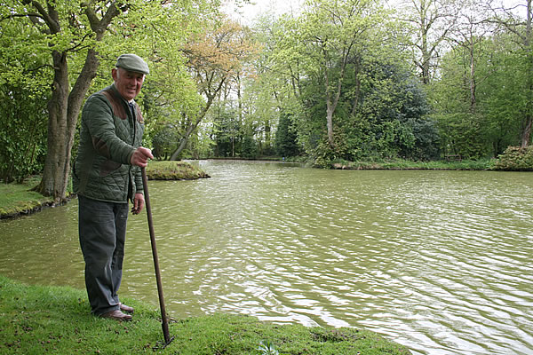 Roy works hard to maintain the natural beauty of the Rectory ponds